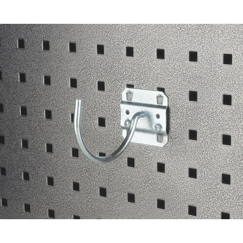 LocHook 3-3/4 In. Curved 3-3/32 In. I.D. Zinc Plated Steel Pegboard Hook for LocBoard, 5 ...