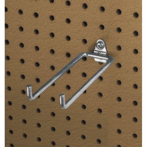 DuraHook 5-3/4 In. Double Rod 80 Degree Bend 1/4 In. Dia. Zinc Plated Steel Pegboard ...