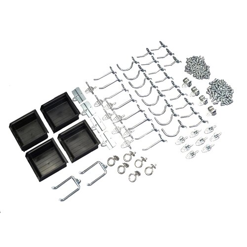 Triton Products DuraHook 64 Piece Hook and Hanging Bin Assortment Kit