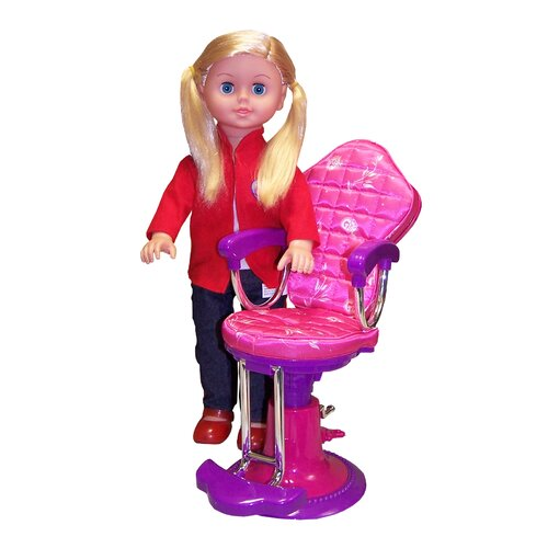 "Molly P. Originals 18"" On the Go Girl Doll and Salon Chair"