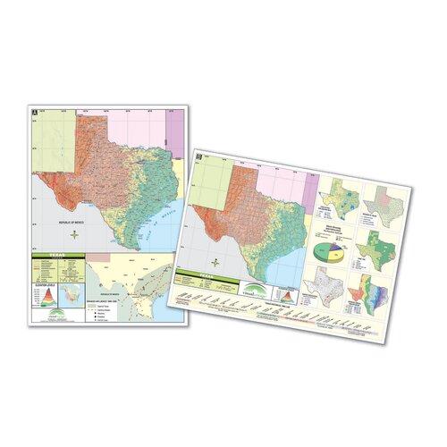 Universal Map Thematic Deskpad Map - Texas