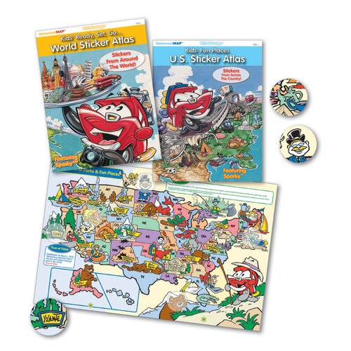 Kids' Ready, Set, Go...World Sticker Atlas