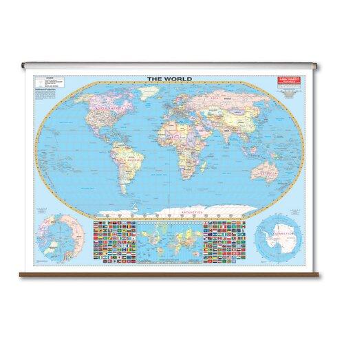 Universal Map Large Scale Wall Map - World