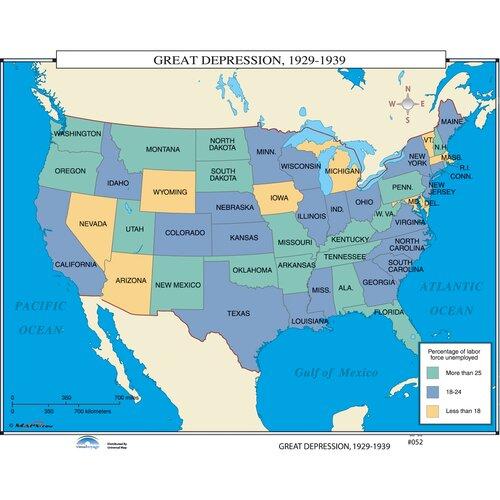 Universal Map U.S. History Wall Maps - Great Depression