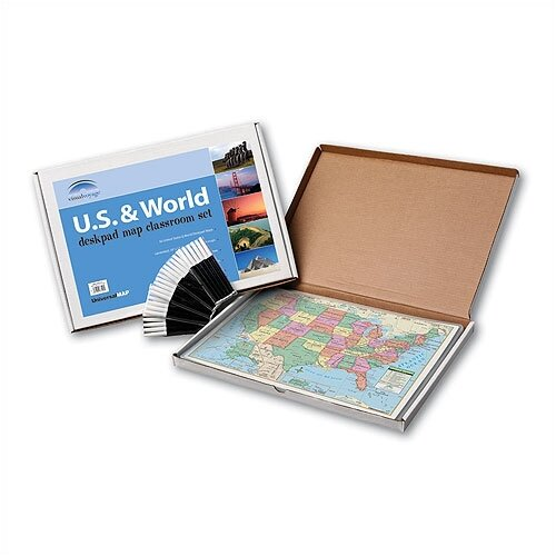 Universal Map Primary Deskpad Class Set - U.S. / World