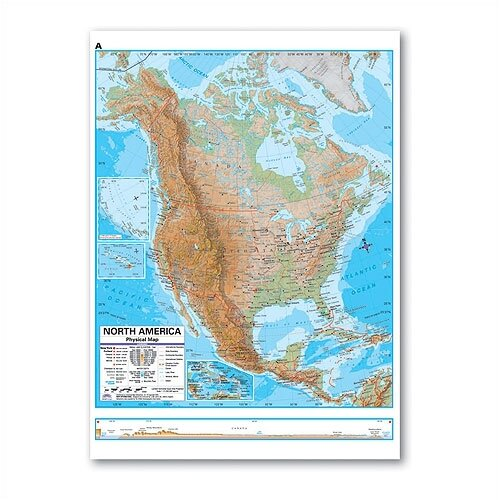 Universal Map Advanced Physical Deskpad - North America