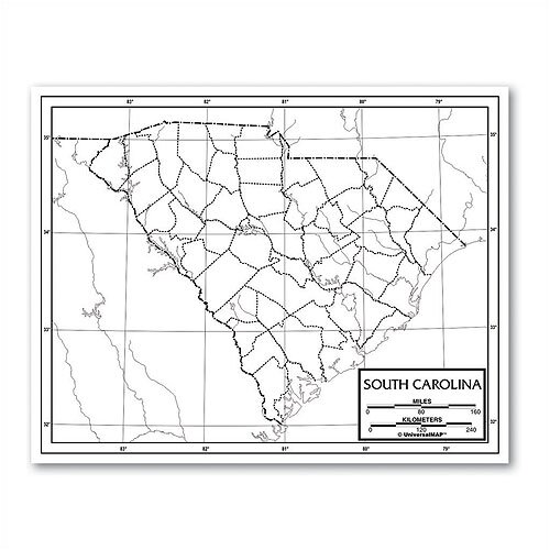 Universal Map Outline Map - State
