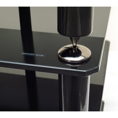 NorStone Bergen 2 4-Shelf Hifi Stand in Glossy Black