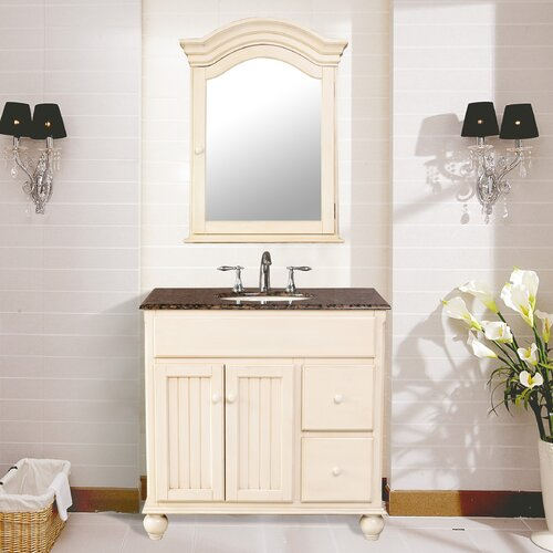 "Stufurhome Snow White 36"" Bathroom Vanity Set"