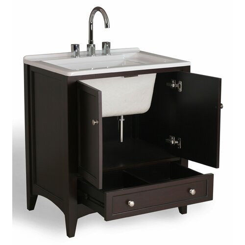 stufurhome 31 quot all in one single bathroom vanity set