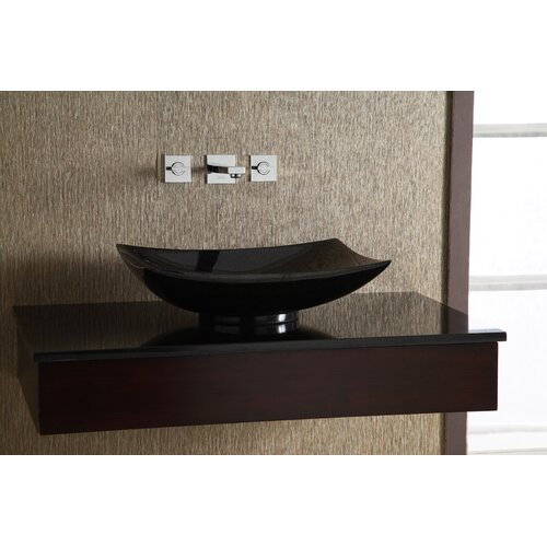 Xylem Rectangular Granite Vessel Bathroom Sink