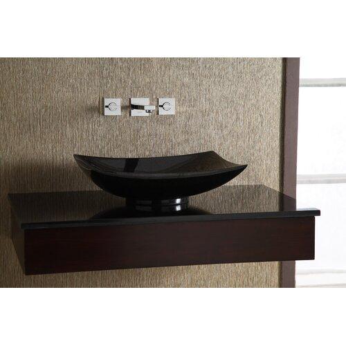 Xylem Rectangular Granite Vessel Bathroom Sink