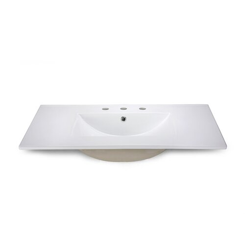 """Xylem 37"""" Vanity Top with Square Bowl"""