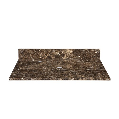 """Xylem Marble 31"""" Vanity Top with Widespread Faucet Drilling"""
