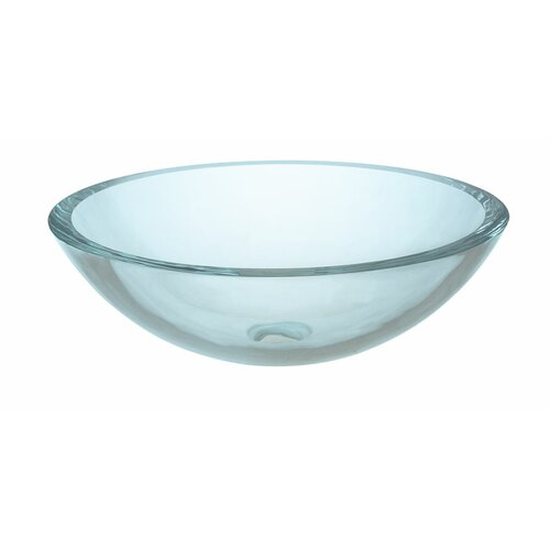 Xylem UltraGlass Clear Vessel Bathroom Sink
