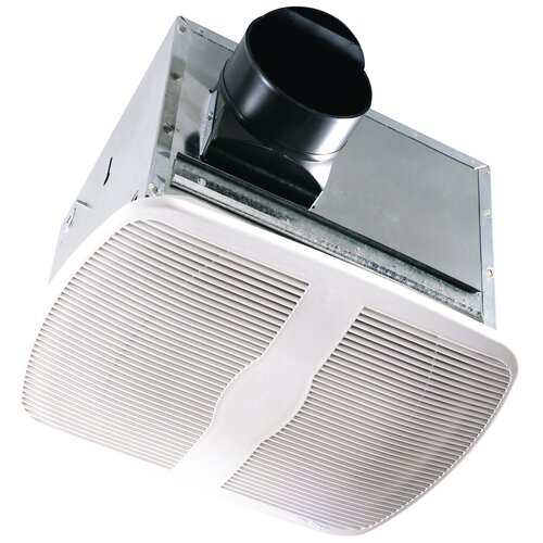 100 CFM Energy Star Qualified Dual Speed Exhaust Bathroom Fan