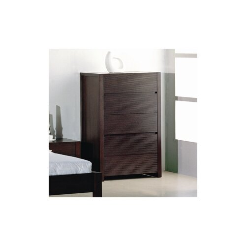 Beverly Hills Furniture Etch 5 Drawer Chest