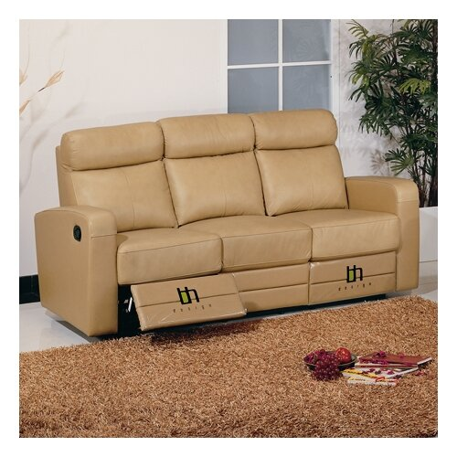 Slope Leather Reclining Sofa