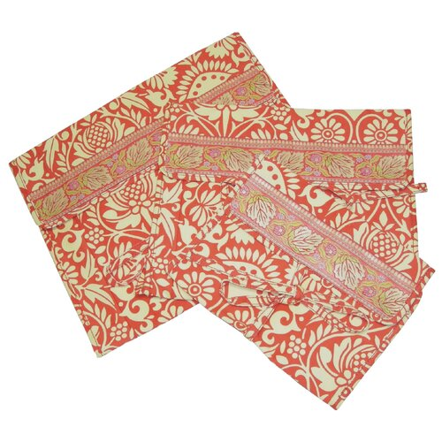 Amy Butler Safia Lingerie Envelopes in Sari Flowers Tomato