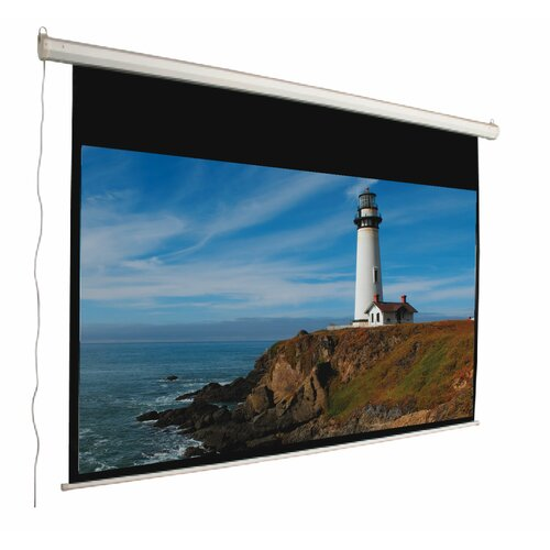 """Mustang 92"""" 16:9 Aspect Ratio Electric Screen in Matte White"""