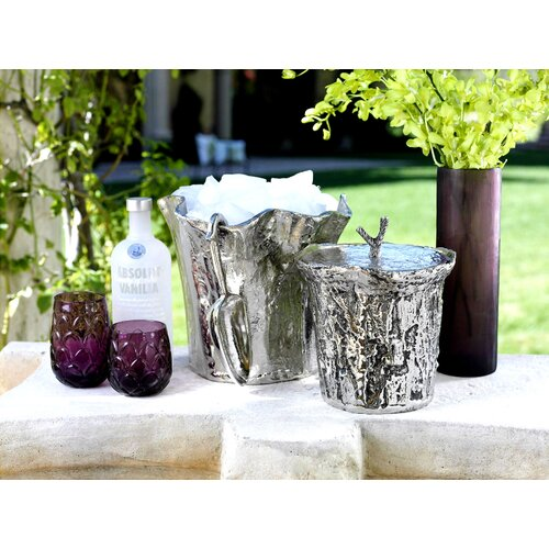 Zodax Artisan Aluminum Ice Bucket with Lid