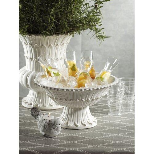 Zodax Belle Maison Ceramic Pedestal Bowl
