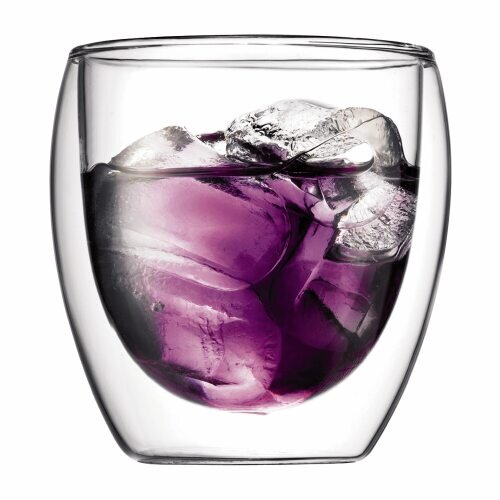 Pavina 8 oz Double Wall Insulated Glass (Set of 2)