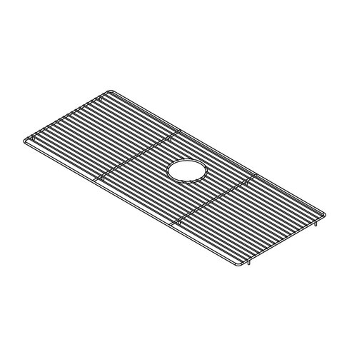 """Julien 34"""" x 14"""" Electropolished Grid for Kitchen Sink Bowl"""