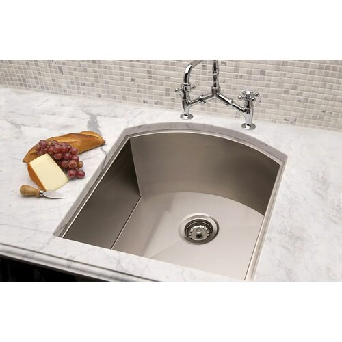 """Julien Vintage 21.5"""" x 19.5"""" Undermount Single Bowl Kitchen Sink"""