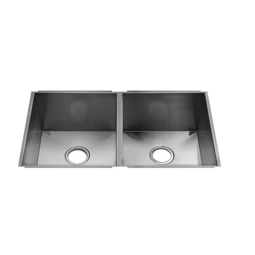 "Julien UrbanEdge 32"" x 19.5"" Undermount Double Bowl Kitchen Sink"