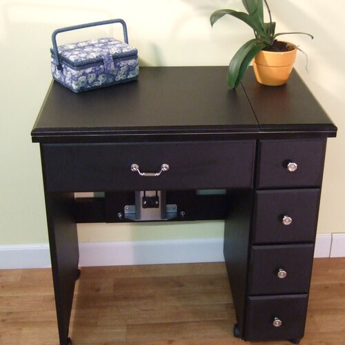 Arrow Auntie Black Laminate Airlift Sewing Cabinet