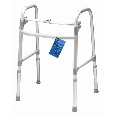 Carex Single Button Adult Folding Walker