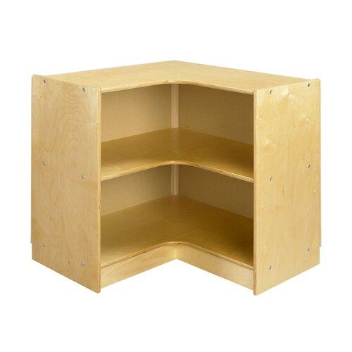 """A&E Wood Designs Cubbie """"L"""" Shaped Corner Mobile Storage Unit"""