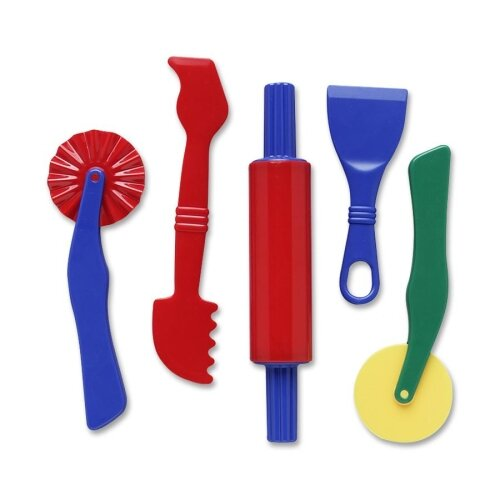 Chenille Kraft Company Clay Dough Tools Set, 5 Piece, Assorted Colors