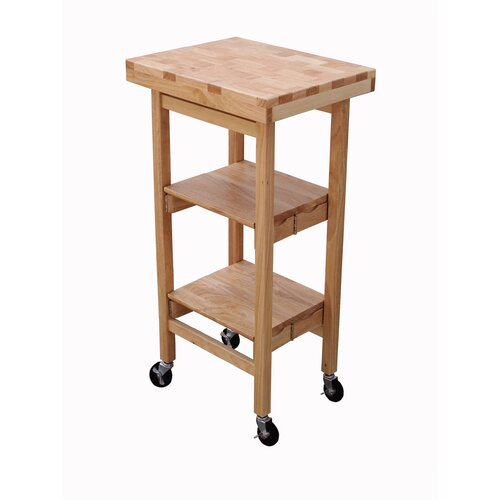 Oasis concepts folding kitchen cart with wood top for Collapsible kitchen cart