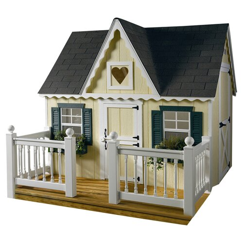 Homeplace Victorian Playhouse with Front Porch and Railing