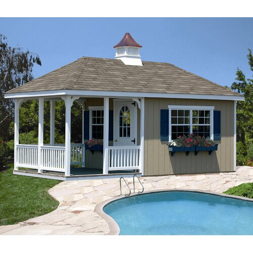 20' W x 10' D Wood Garden Shed