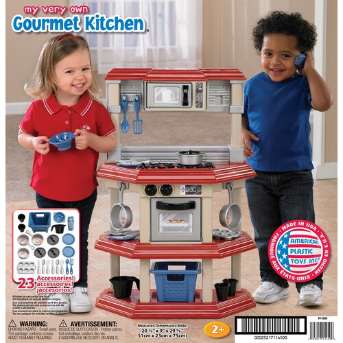 American Plastic Toys 23 Piece My Very Own Gourmet Kitchen Set