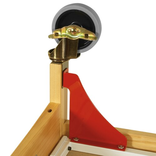 Professional Child Care Compact Crib Steel Evacuation Casters/Hardware