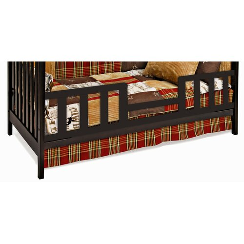 Logan Toddler Guard Rail for Stationary Crib in Jamocha