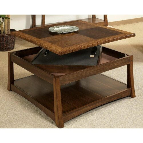 Milan Dual Coffee Table With Dual Lift Top Reviews Wayfair