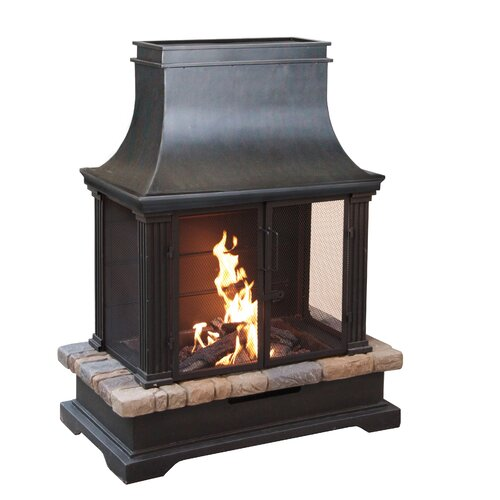 Bond Sevilla Steel And Slate Outdoor Fireplace Reviews Wayfair Supply