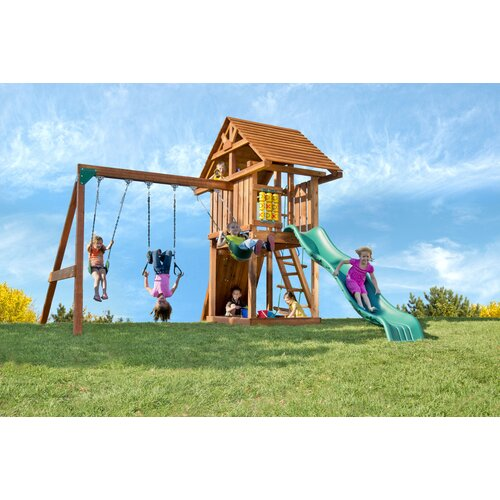 Kids Creations Redwood Circus 3 Swing Set