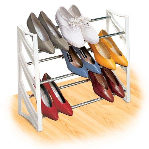 Lynk Closet 9 Pair Convertible Shoe Rack