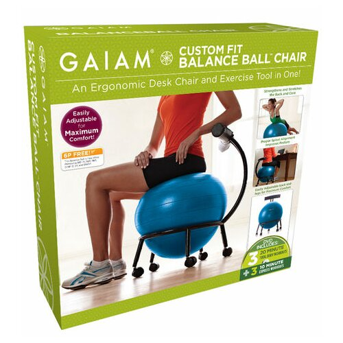 Balance Board Exercises Benefits: Gaiam Custom Fit Balance Ball Chair & Reviews