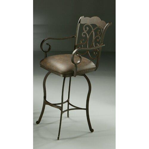 "Pastel Furniture  Athena 30"" Swivel Bar Stool with Cushion"