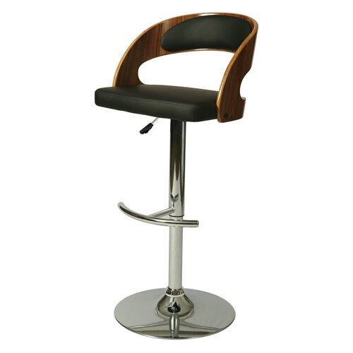 Yreka Adjustable Swivel Bar Stool with Cushion