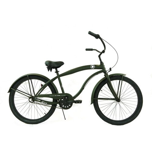 Greenline Bicycles Men's 3-Speed Premium Beach Cruiser