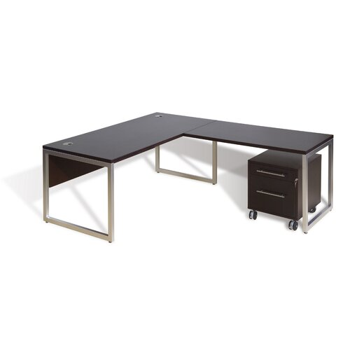 Jesper Office 9000 Professional Series 9803/9807/9821 63-in 2 Drawer Pedestals with 48-in Return