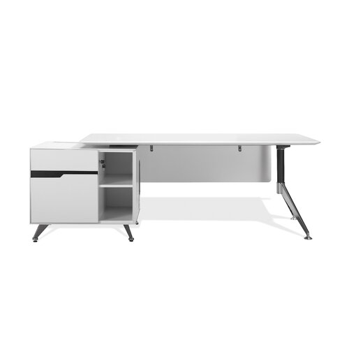 Jesper Office 400 Series Executive Desk with Return Cabinet